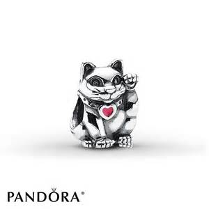 pandora cat charm jared pandora charm lucky cat pink enamel sterling silver