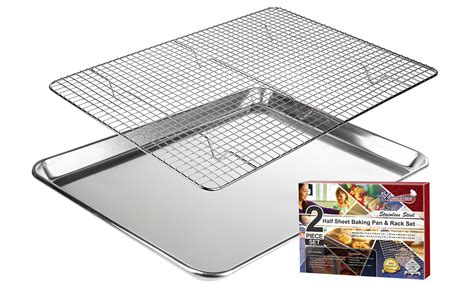 baking cookie rated sheets sheet rack roasting cooling tray pan wire half amazon