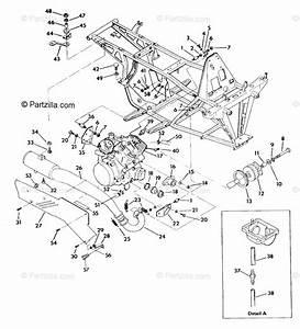 Polaris Atv 1992 Oem Parts Diagram For Engine  U0026 Muffler