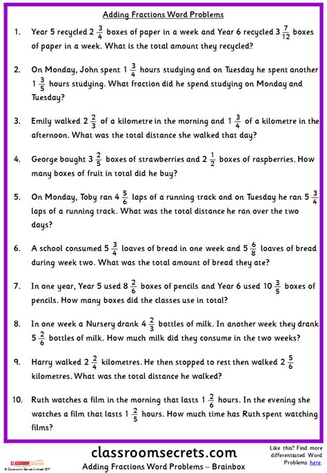 word problems year 7 kidz activities