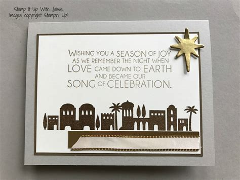 stampin  night  bethleham neutral colors stamp