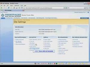 sharepoint 2007 tutorial how to create a sharepoint site With sharepoint 2007 site templates
