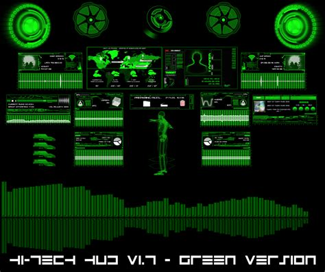 High Tech Animated Wallpaper - hi tech hud green by hekee on deviantart