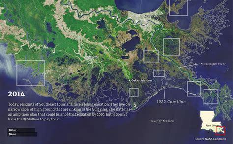 louisianas coastline  vanished