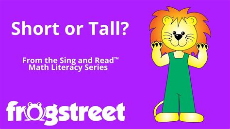 short  tall sing read math literacy series youtube