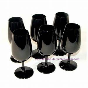 Verre A Vin Noir : 6 verres inao noirs opaques finition brillant ~ Teatrodelosmanantiales.com Idées de Décoration