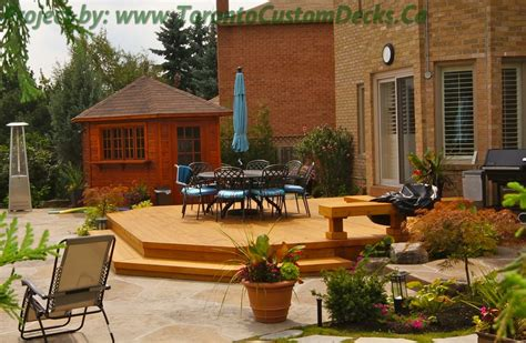 patio deck and landscaping project toronto custom deck