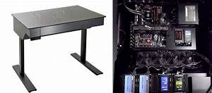 Lian Li DK 04 Standing Desk PC Gaming Rig Chassis