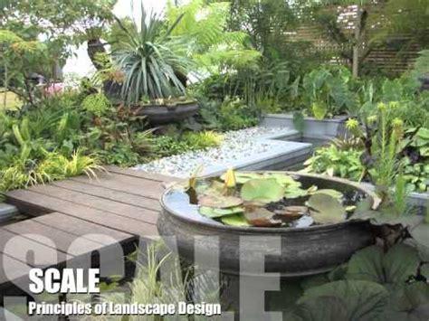 Principles Of Landscape Design  Youtube