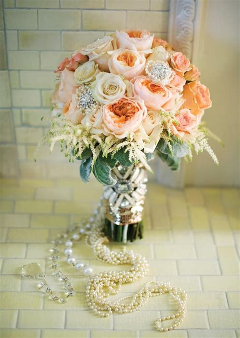 Great Gatsby Wedding Theme Bridal Bouquet Keywords Gre