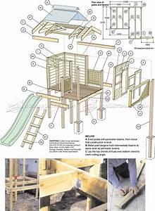 Backyard Playhouse Plans • WoodArchivist