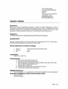 Format Of A Proper Resume by Exles Of Resumes Proper Resume Format 2018 For 93