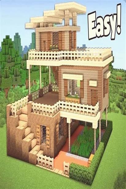 Minecraft Build Easy Survival Houses Starter Tutorial