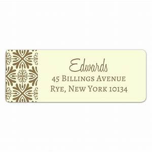 damask ivory return address labels paperstyle With ivory mailing labels