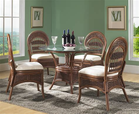 wicker dining chairs set derektime design great ideas