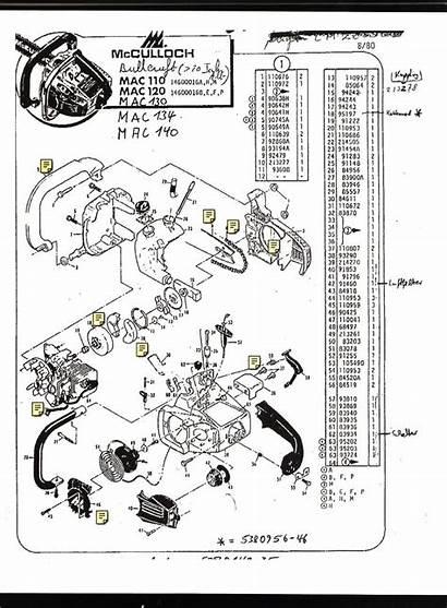 Chainsaw Diagram Mac 130 Parts 110 Beaver