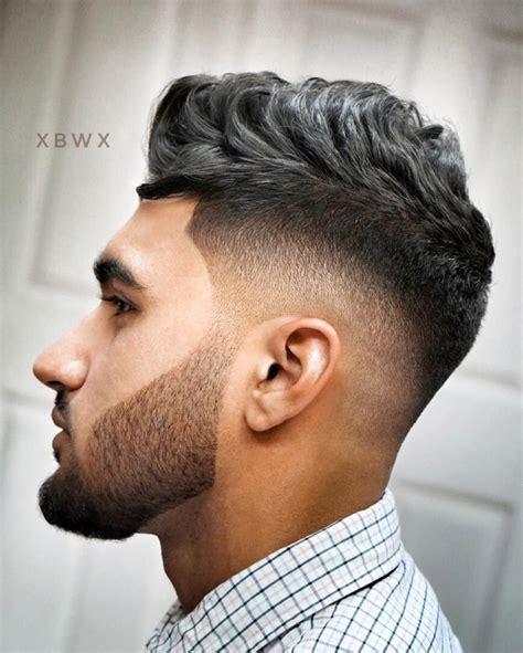 mens fauxhawk fade hairstyle  cool mens haircuts
