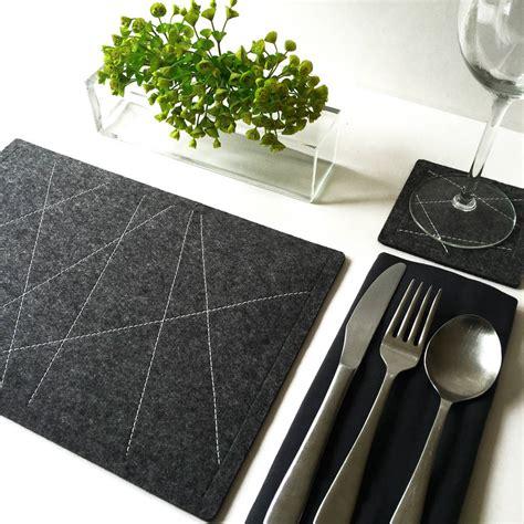felt table mats wool felt tablemats by goldborough notonthehighstreet