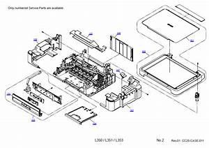 Epson L350  L351  L353 Parts Manual