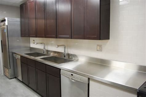 Stainless Steel Countertops Home Depot by Custom Metal Home Stainless Steel Countertops