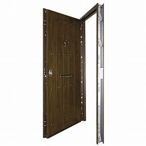 Puerta de entrada Acorazada rústico nogal Ref 16145962 Leroy Merlin
