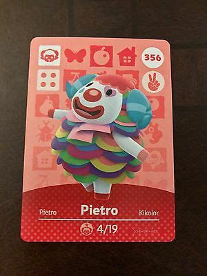 The most common pietro amiibo card material is metal. PIETRO #356 Animal Crossing Amiibo Card Mint From Either Series 1, 2, 3, 4, 5 | eBay