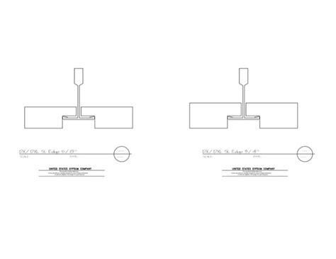 usg design studio 09 51 13 1511 acoustical ceilings shadow line edge dx dxl grid