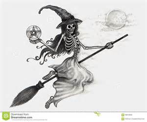 Halloween Witch Pencil Drawings