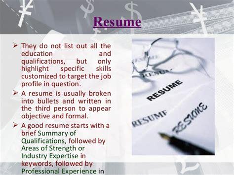 Difference Resume And Portfolio by Resume Cv Bio Data Differences E Portfolio
