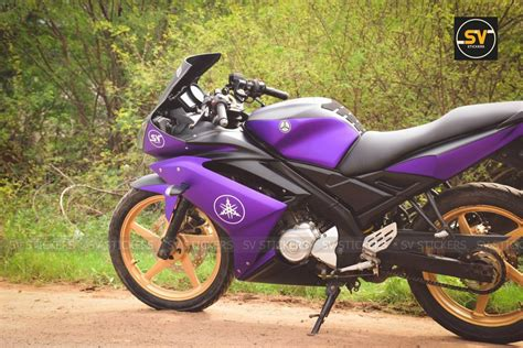 matte satin purple yamaha   wrap  sv stickers