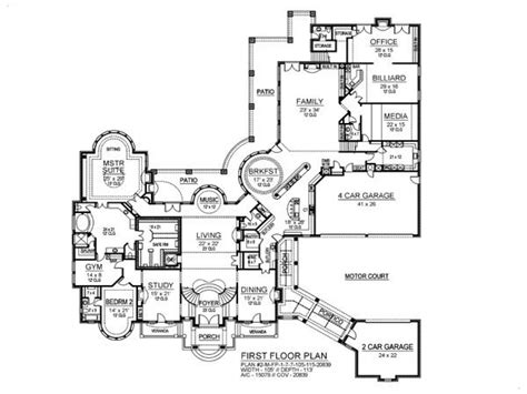 mansion floor plans 7 bedroom house plans 8 bedroom ranch house plans 7
