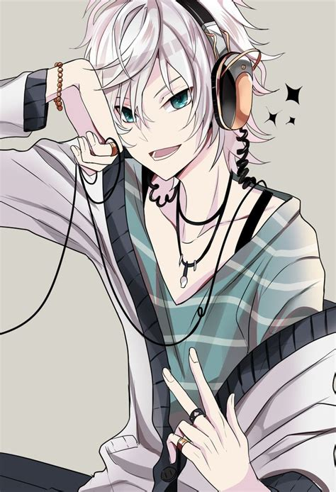 anime boy cool and cute 47 best anime guys with headphones images on pinterest