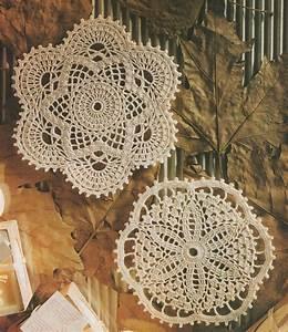 Doily Crochet Pattern Pdf 2 Designs  Round Doily Mat