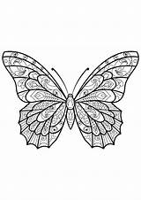 Butterfly Coloring Butterflies Pages Adult Adults Printable Patterns Mandala Animals Insects Children Zentangle Justcolor Drawing Few Coloriage Outline Nggallery Ll sketch template