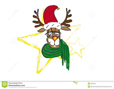 funny reindeer stock vector illustration  green clip