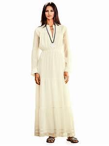 Robe Style Boheme : robe longue crue style boh me volants col boutons ~ Dallasstarsshop.com Idées de Décoration