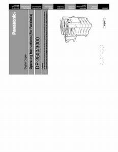 Service Manual   Dp3000 Fax User Pdf  Repair Manual For