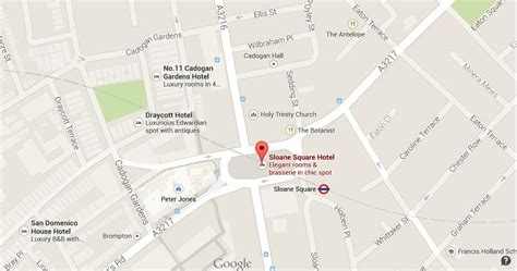 Map of Sloane Square | World Easy Guides
