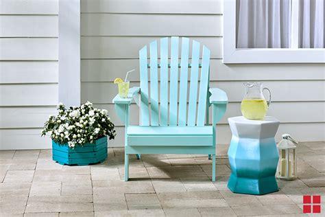 spray painted adirondack chair