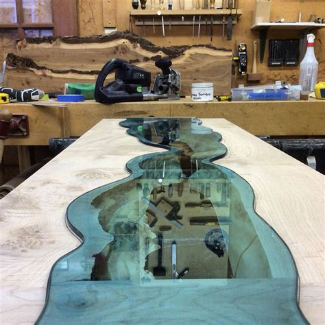 Holzmoebel River Collection Greg Klassen by Glass Rivers And Lakes Flow Across Beautiful Tables By