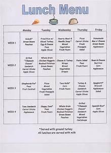 preschool snack menu ideas preschool snack menu template With preschool menu template