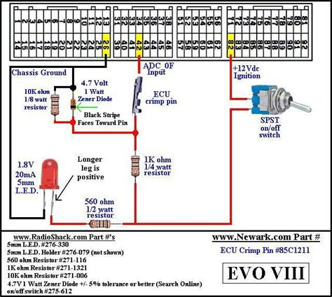 2003 3 8 Mitsubishi Wire Diagram by Map Switching Harness Evoecu