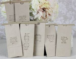 wedding favor bags kraft paper candy cookies popcorn With wedding sayings for favors