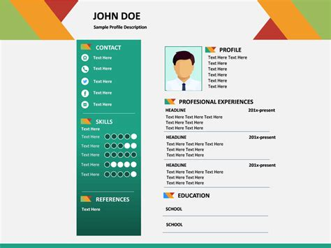 resume powerpoint professional resume powerpoint template sketchbubble