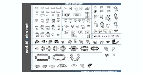 Others CAD Blocks: office equipment in plan and elevation view