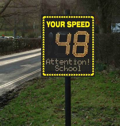 Speed Radar Sign Signs Activated Programmable Line