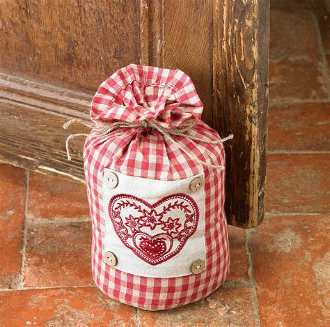 country heart fabric door stop by country lighting