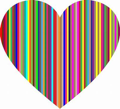 Vertical Heart Striped Clipart Colorful Hearts Svg