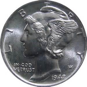 1942 Mercury Dime Worth