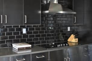 black glass tiles for kitchen backsplashes black kitchen backsplash design ideas